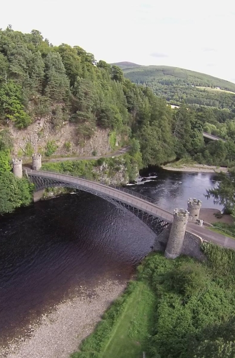 Craigellachie Bridge from the air