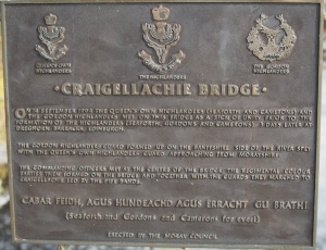 Craigellachie Bridge Plaque