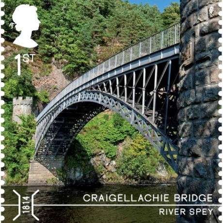 Craigellachie Bridge commemorative stamp